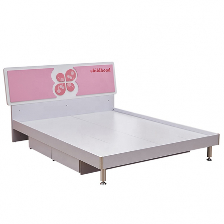 Set mobilier Childhood din MDF pentru camera copii 4 piese: pat 120 x 190cm, noptiera, dulap 2 usi, birou -cod 8861 [3]