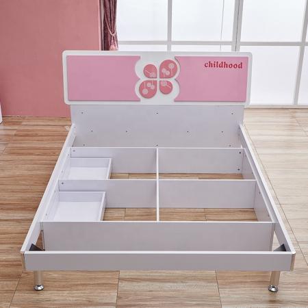 Set mobilier Childhood din MDF pentru camera copii 4 piese: pat 120 x 190cm, noptiera, dulap 2 usi, birou -cod 8861 [7]