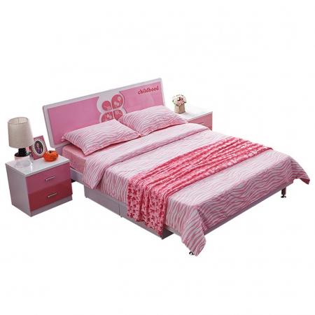 Set mobilier Childhood din MDF pentru camera copii 4 piese: pat 120 x 190cm, noptiera, dulap 2 usi, birou -cod 8861 [2]