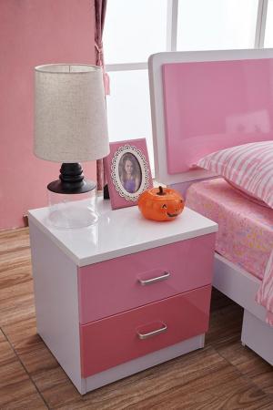 Set mobilier Childhood din MDF pentru camera copii 4 piese: pat 120 x 190cm, noptiera, dulap 2 usi, birou -cod 8861 [12]