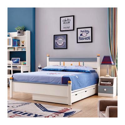 Set mobilier Solis din MDF si lemn masiv stejar pentru camera copii 4 piese: pat 120 x 190cm, noptiera, dulap 3 usi, birou -cod 8915 [2]