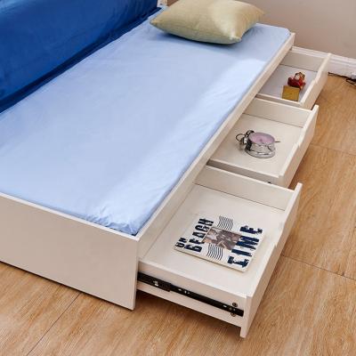 Set mobilier Bingo din MDF si lemn masiv stejar pentru camera copii 4 piese: pat 120 x 190cm, noptiera, dulap 3 usi, birou -cod 89216