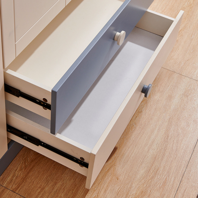 Set mobilier Tom din MDF si lemn masiv pentru camera copii 4 piese: pat 120 x 190cm, noptiera, dulap 3 usi, birou -cod 8919 [9]