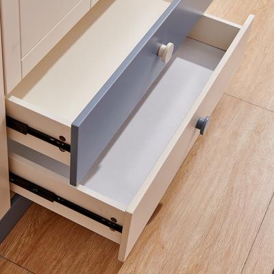 Set mobilier Guarddin MDF si lemn masiv pentru camera copii 4 piese: pat 120 x 190cm, noptiera, dulap 3 usi, birou -cod 8913 [12]