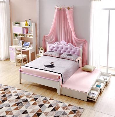 Set mobilier Sofia din MDF si lemn masiv pentru camera copii 4 piese: pat 120 x 190cm, noptiera, dulap 3 usi, birou -cod 8922 [1]