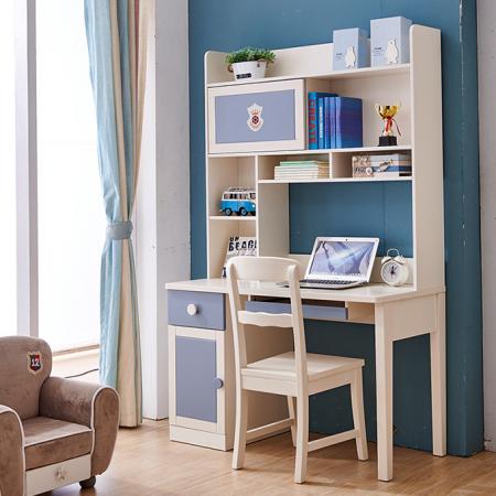 Set mobilier Football din MDF si lemn masiv pentru camera copii 4 piese: pat 120 x 190cm, noptiera, dulap 3 usi, birou -cod 8911 [7]