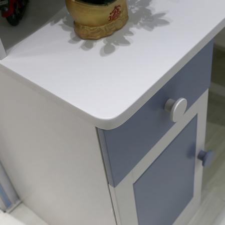 Set mobilier Football din MDF si lemn masiv pentru camera copii 4 piese: pat 120 x 190cm, noptiera, dulap 3 usi, birou -cod 8911 [9]
