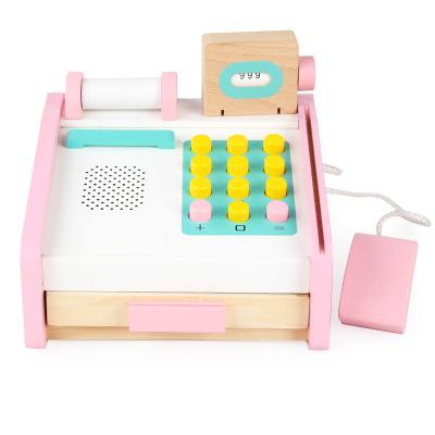 Casa de marcat roz cu buline albe din lemn cu accesorii 0