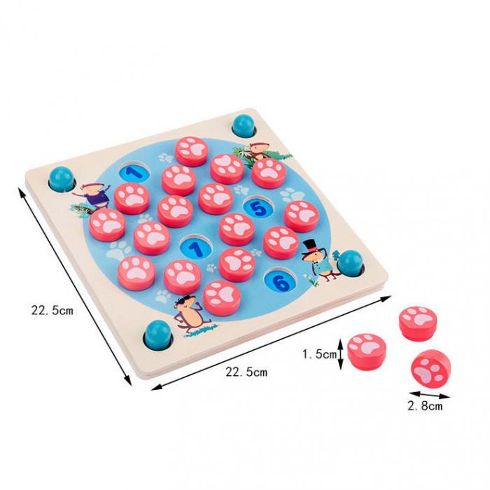 Joc din lemn 4 in 1 Multifunctional Memory Chess [5]