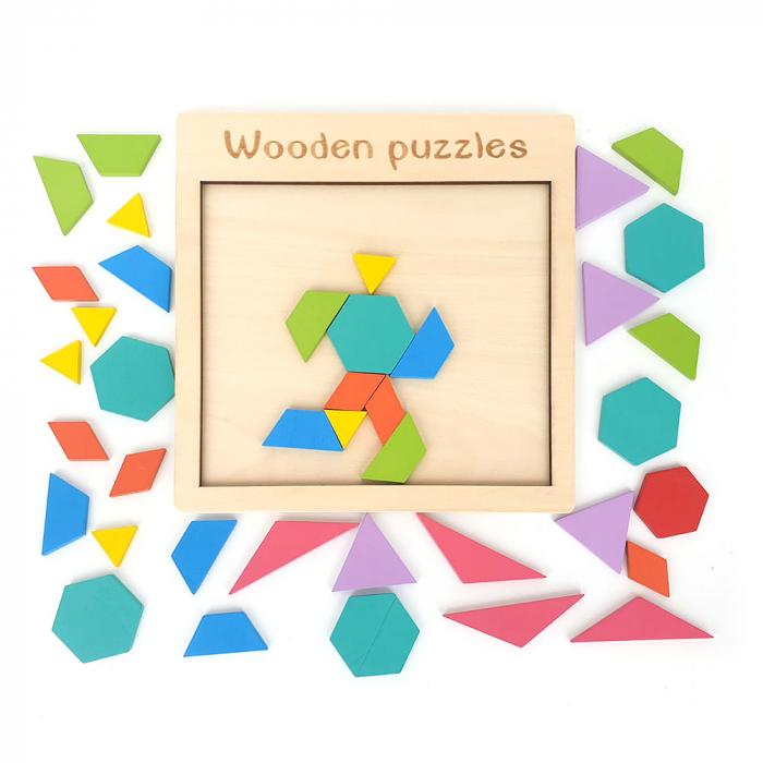 Puzzle din lemn - joc de logica si imaginatie 1