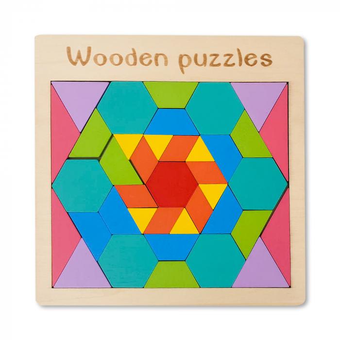 Puzzle din lemn - joc de logica si imaginatie 0