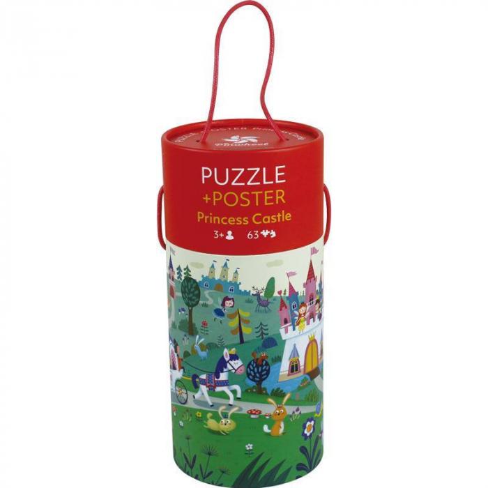 """Puzzle 63 piese """"Castelul prințesei"""" în cutie cilindrică 0"""