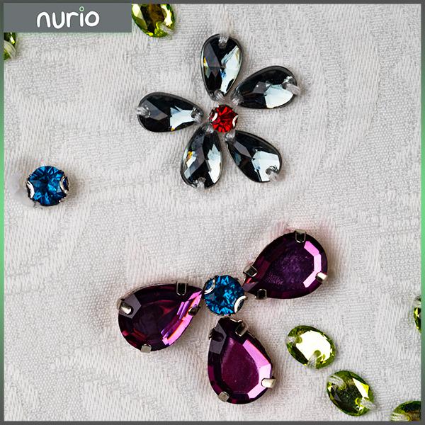 Rochie din brocart cu flori 6