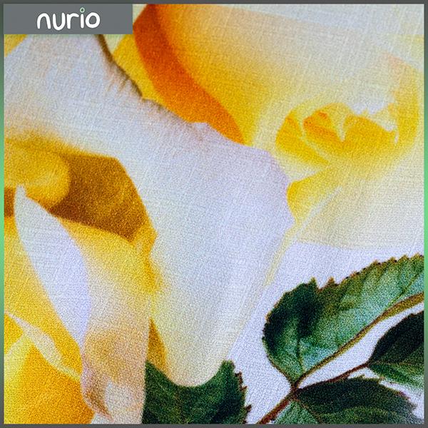 Rochie galbena cu trandafiri 2
