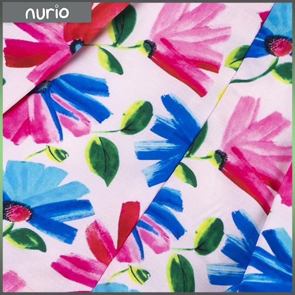 Rochie cu flori albastre si roz 2