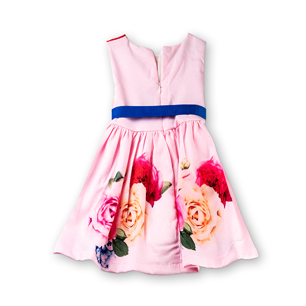 Rochie roz cu trandafiri 1
