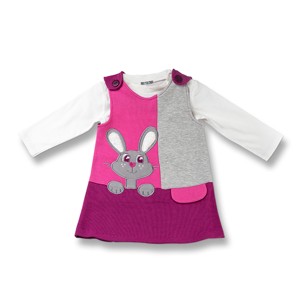 Set doua piese fetite cu sarafan si bluza 0