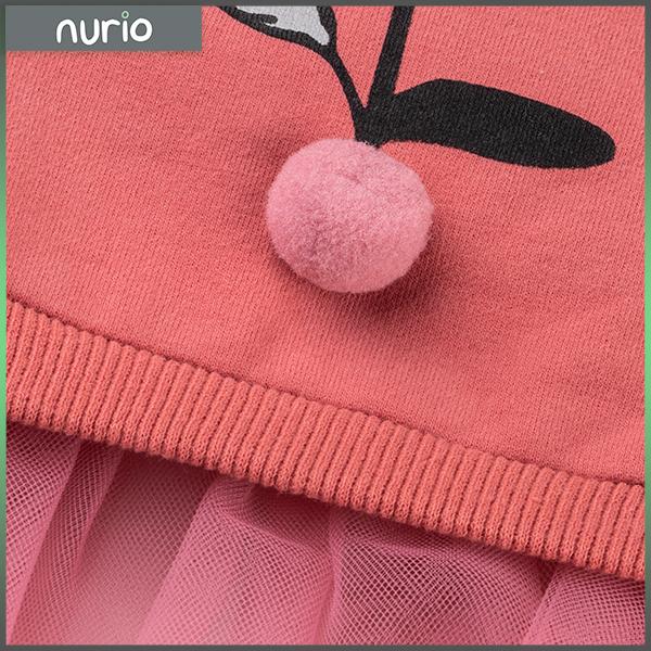 Bluza din bumbac cu pompoane 1
