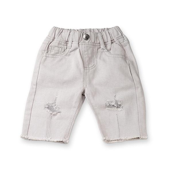 Pantaloni trei sferturi gri 0