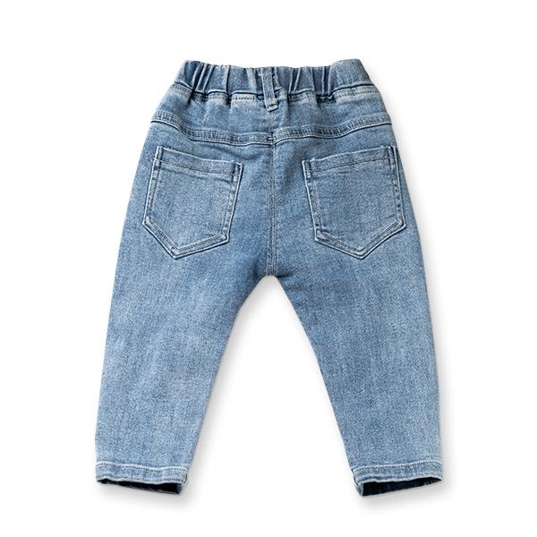 Pantaloni denim cu detaliu mignon 1