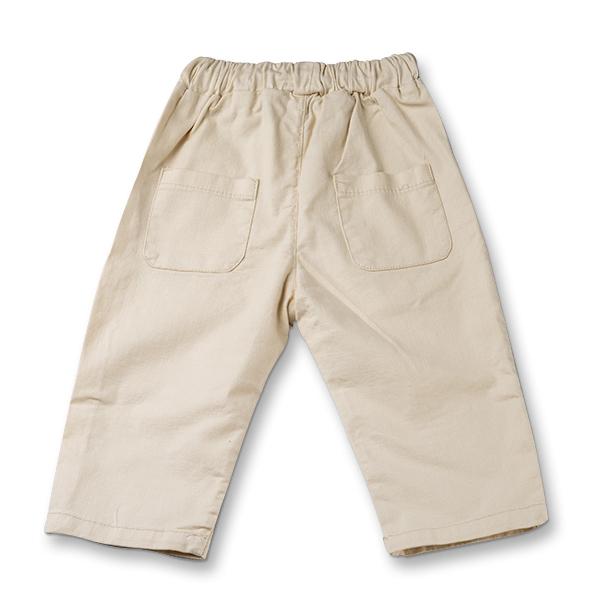 Pantaloni in ivoire cu snur  baieti 1
