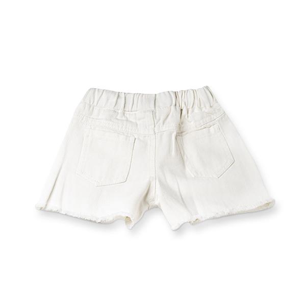 Pantaloni scurti de blugi albi cu paiete 1