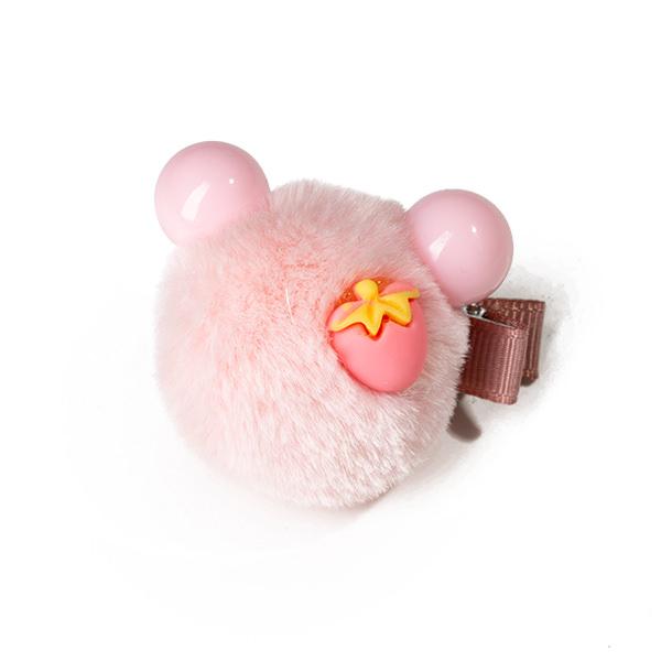 Agrafa par roz  tip ursulet din blanita si capsuna 1