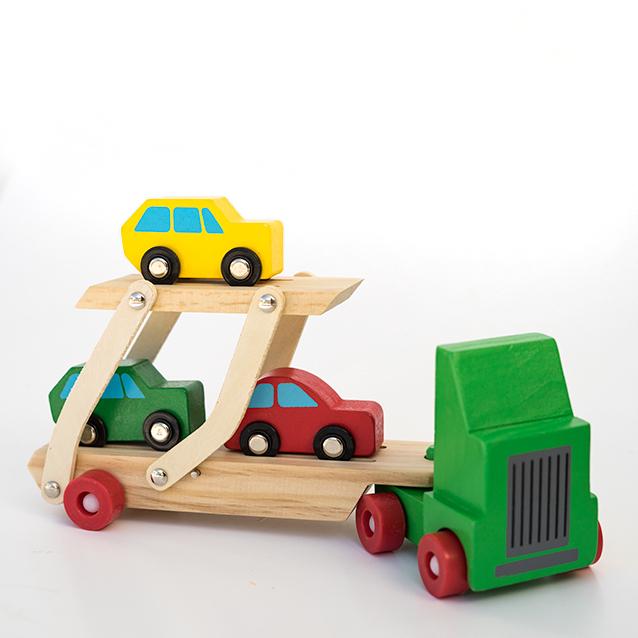 Camion cu etaj pentru transport autoturisme din lemn [0]