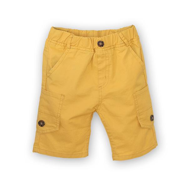 Bermude cu buzunare laterale culoare galben [0]