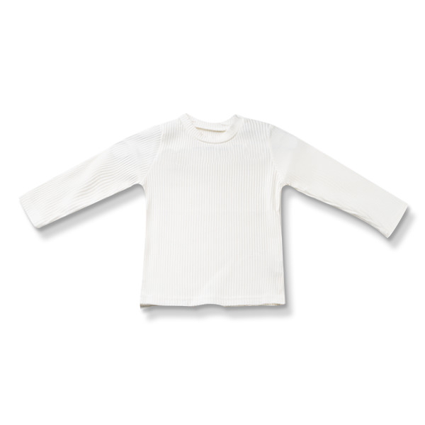 Bluza alba din bumbac 0