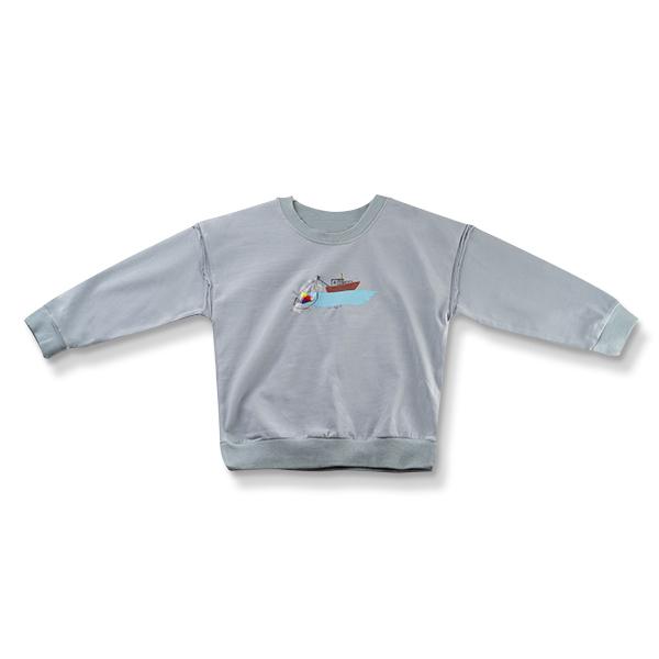 Bluza cu imprimeu vapor culoare albastru 0