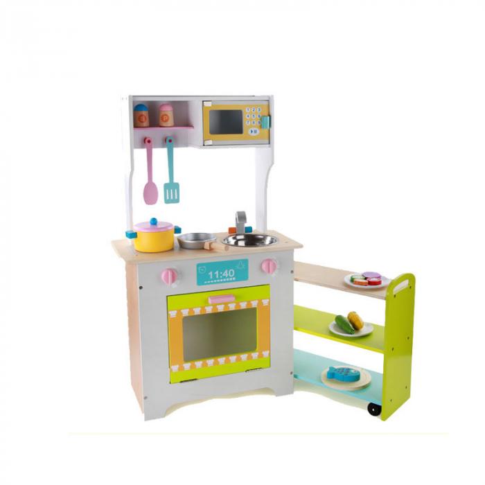Bucătărie 2 în 1 din lemn combinată pentru copii 1