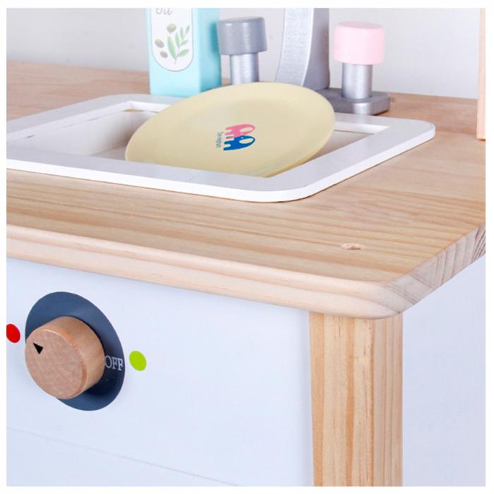 Bucatarie multifunctionala din lemn pentru copii cu accesorii [5]