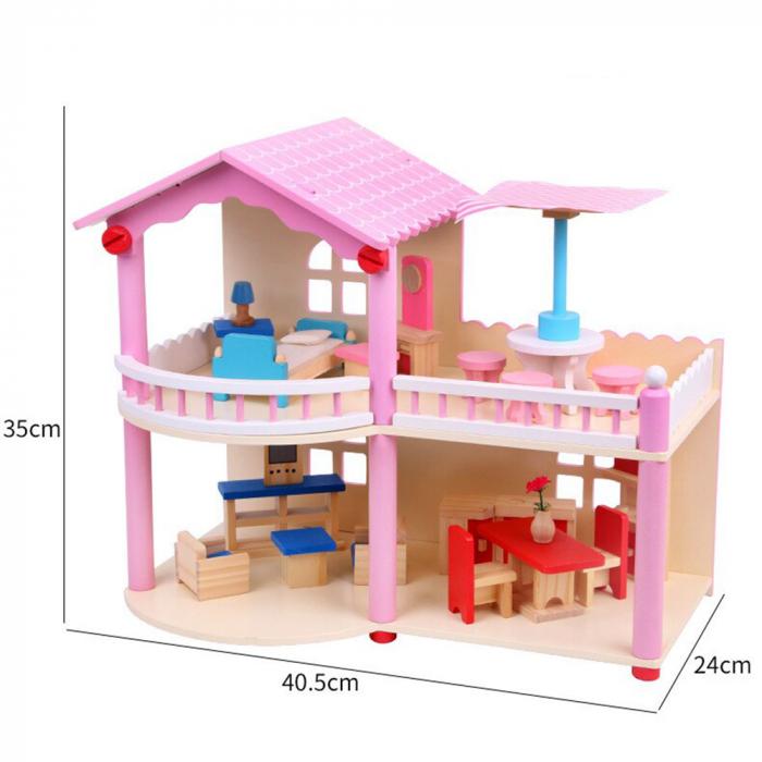 Căsută de păpuși cu terasa 1
