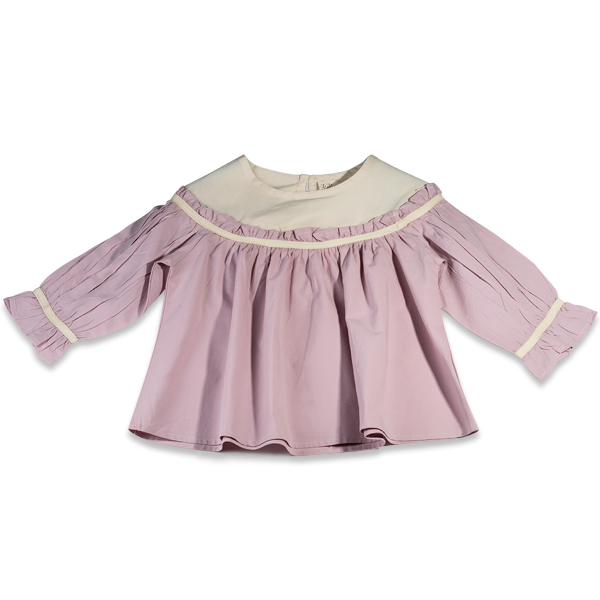 Camasa eleganta fete ivoire si roz 0