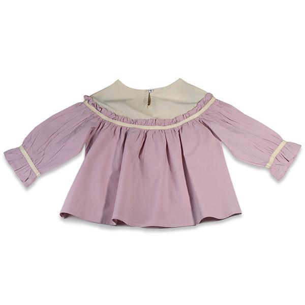 Camasa eleganta fete ivoire si roz 1