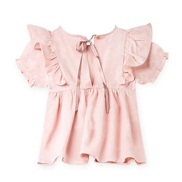 Camasa roz cu volanas si panglica din satin [0]