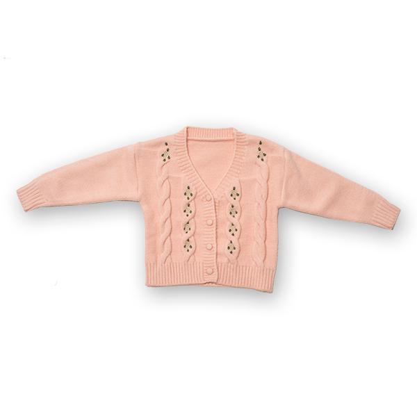 Cardigan din tricot cu broderie 0