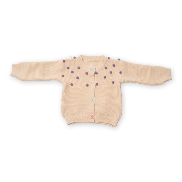 Cardigan din tricot cu nasturi colorati [3]
