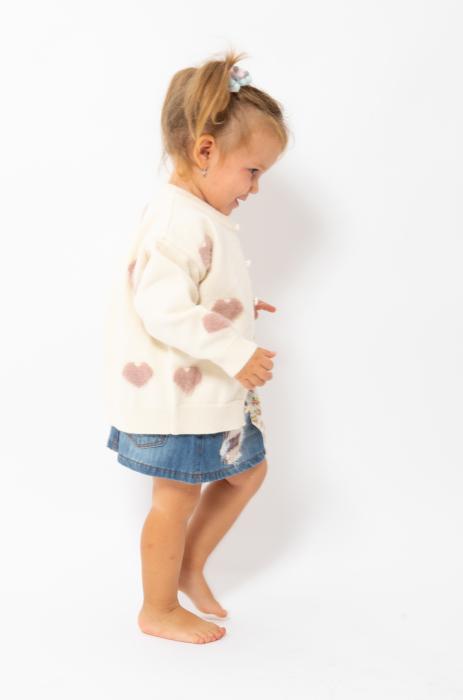 Cardigan din tricot cu nasturi perlati 1
