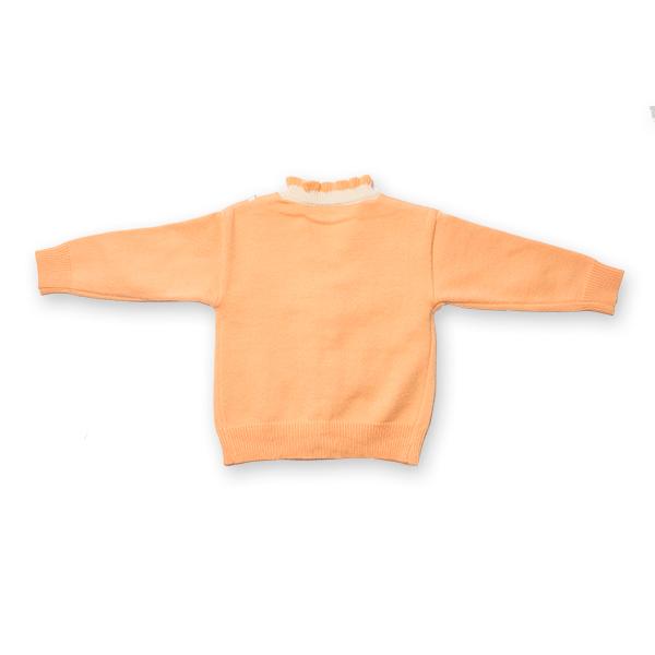 Cardigan din tricot cu volanase si broderie 1