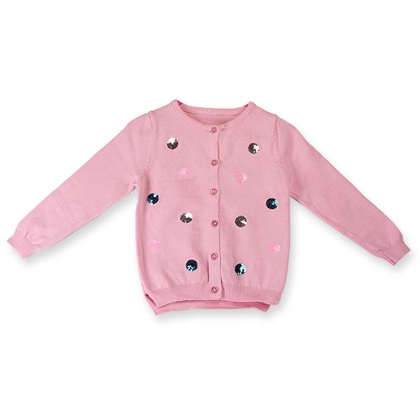 Cardigan  roz cu paiete [0]