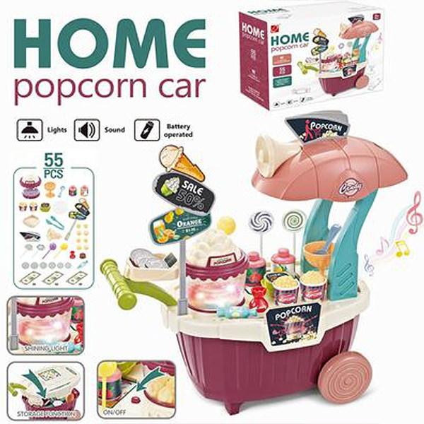 Carucior cu popcorn si dulciuri cu muzica si lumini - 55 piese [1]
