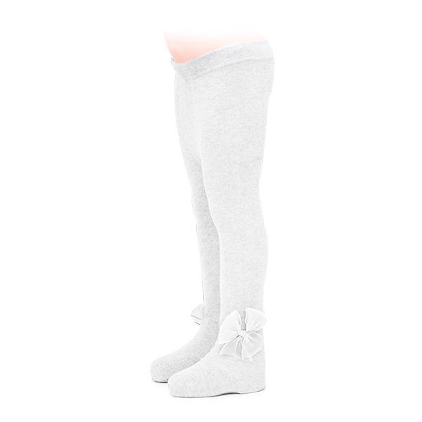 Ciorapi albi cu fundita din tulle 0