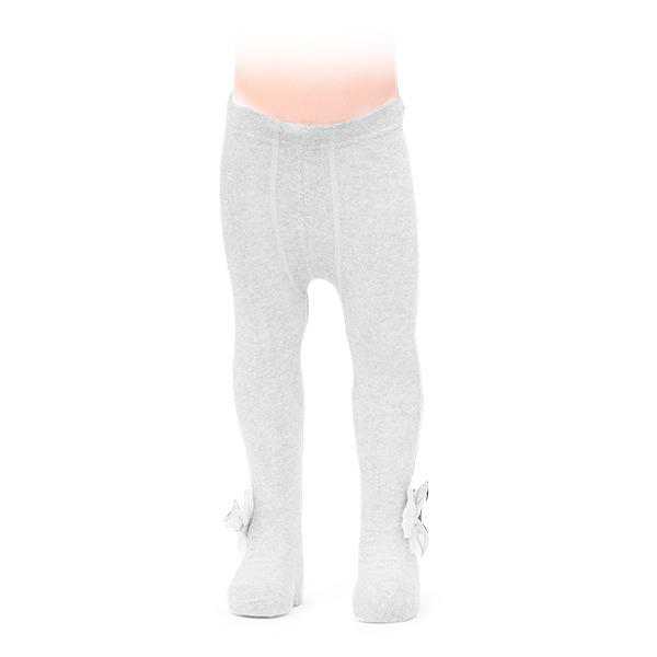 Ciorapi albi cu fundita din tulle 1