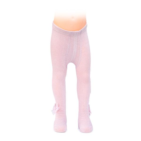 Ciorapi roz cu fundita din tulle 5