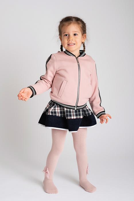 Ciorapi roz cu fundita din tulle 1