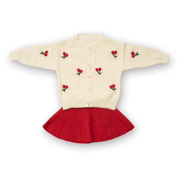 Compleu din tricot - pulover si fusta plisata 0