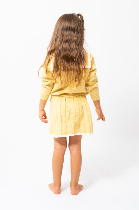 Compleu din tricot - pulover si fusta plisata 2