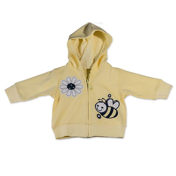 Hanorac galben cu albina si floare 0